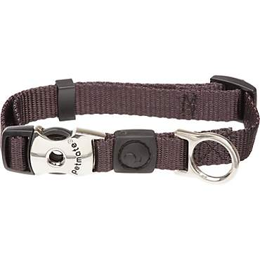 Aspen Pet by Petmate Deluxe Signature Nylon Coal Dog Collar