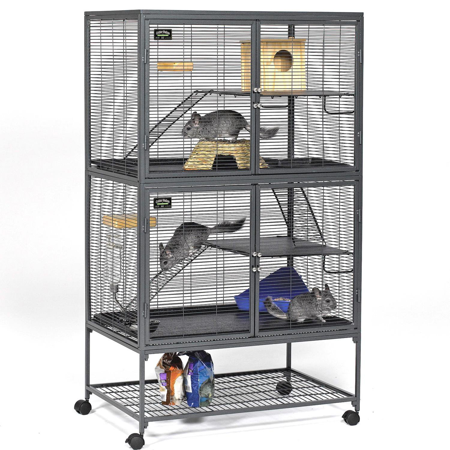 Midwest Critter Nation Double Unit With Stand Small Animal