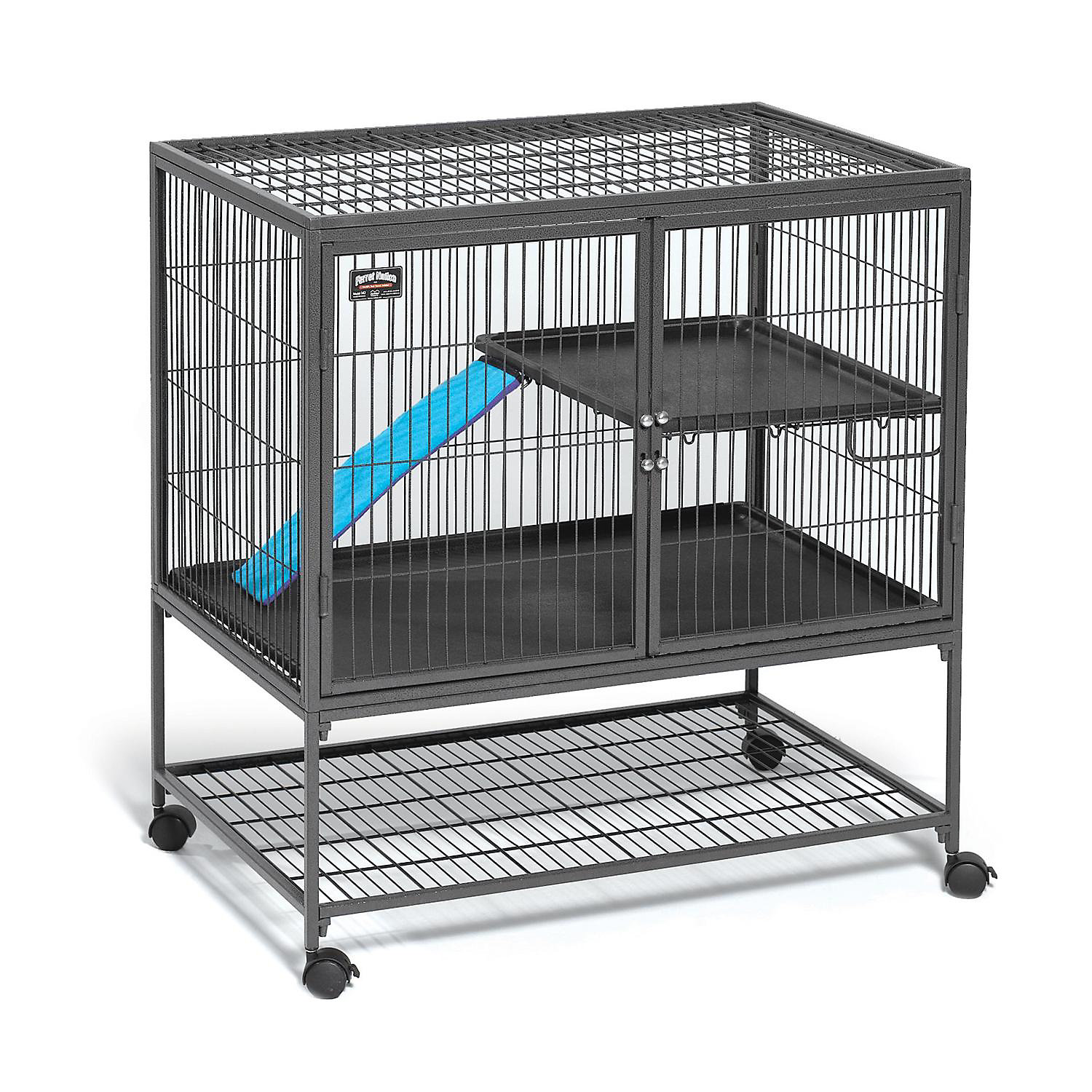 """Midwest Ferret Nation Single Unit With Stand Ferret Cage, 36"""" L X 25"""" W X 38.5"""" H, Gray"""
