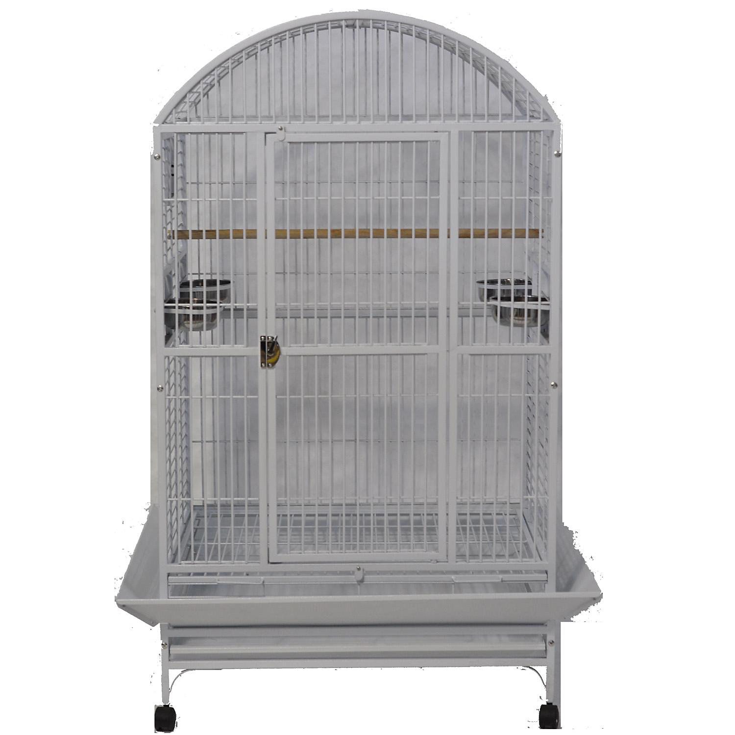 Ae Cage Company Stainless Steel Palace Dometop X Large Bird Cage 36 L X 28 W X 65 H Gray