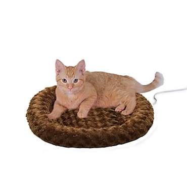 K&H Thermo-Kitty Fashion Splash Mocha Heated Cat Bed
