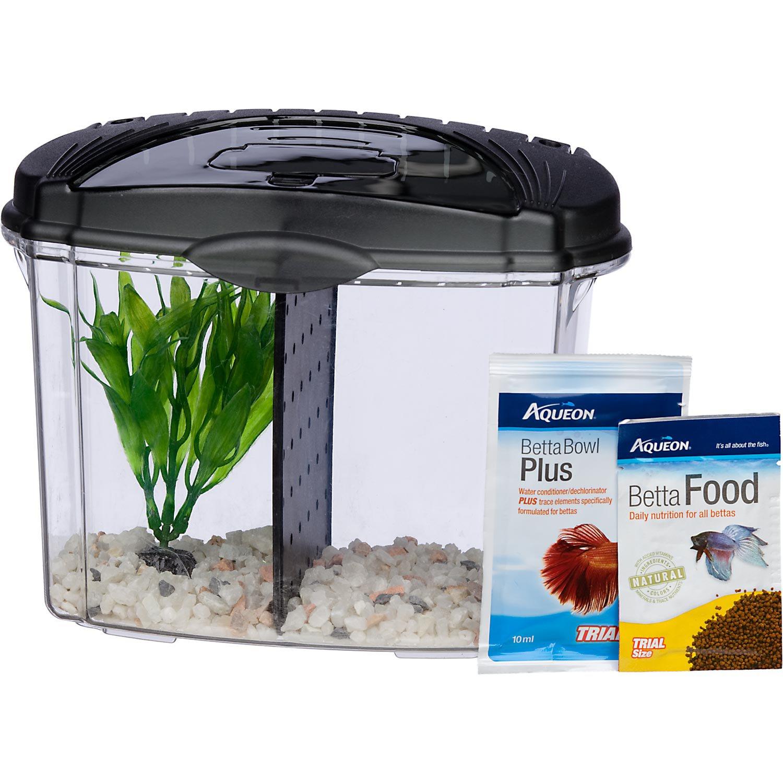 Fish aquarium for betta - Aqueon Betta Bowl Aquarium Kit In Black