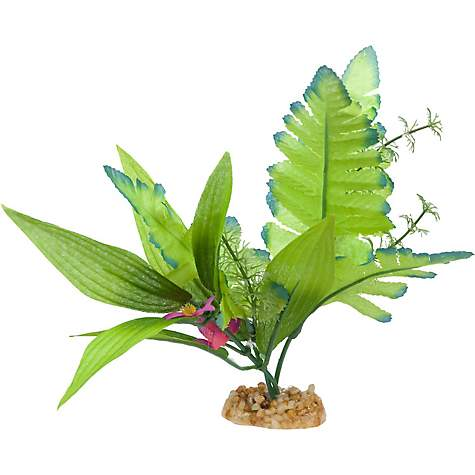 Imagitarium Leafy Green Silk Aquarium Plant