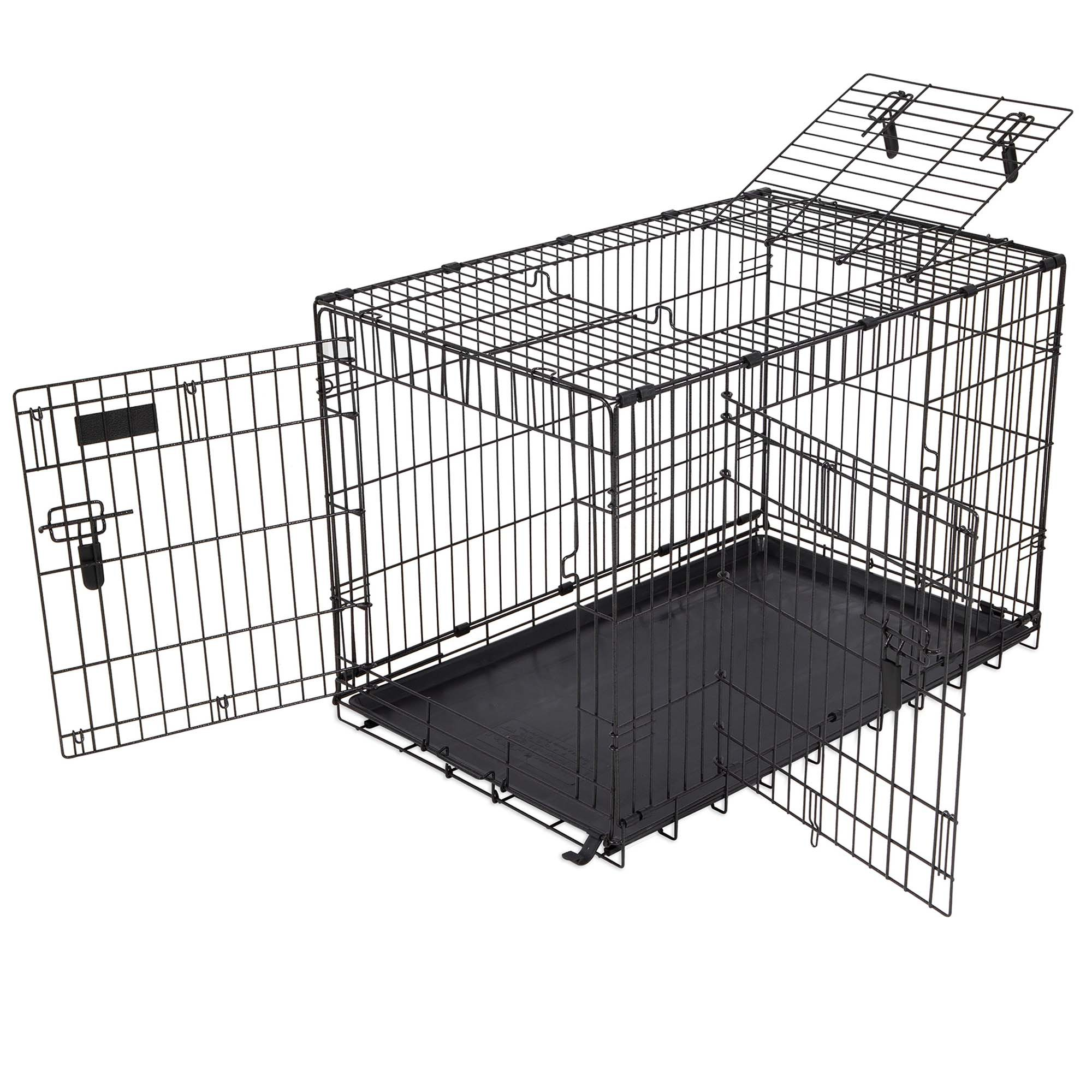 Precision Pet Elite 3 Door Great Crate in Black | Petco