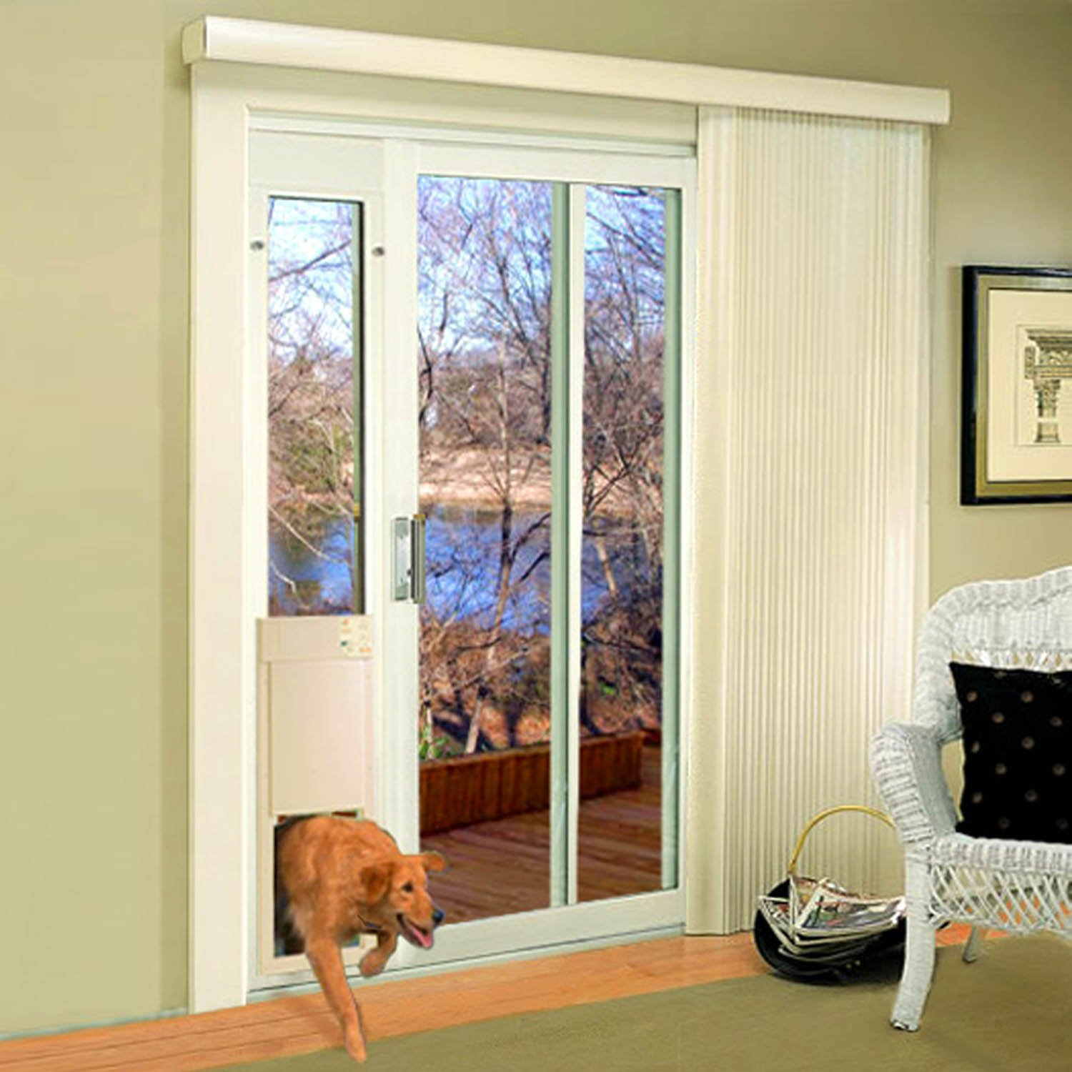High Tech Pet Large Power Pet Patio Panel Pet Door Short