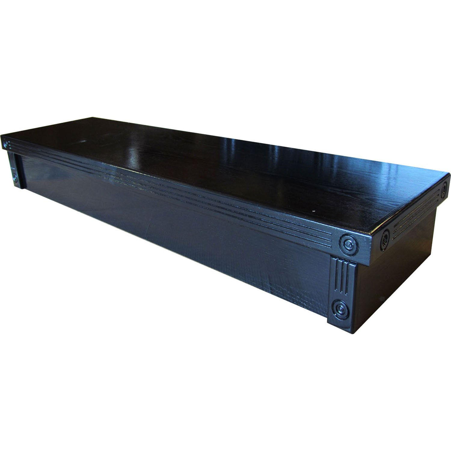 Aquarium fish tank hoods - R J Enterprises 72x18 Black Oak Empire Series For Acrylic Aquariums 125 150 Canopy Petco