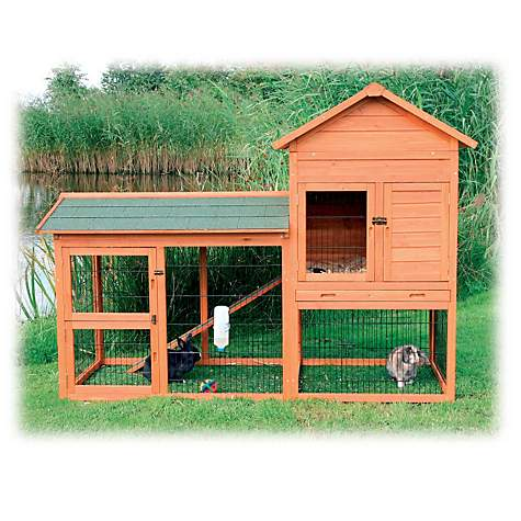 Trixie Natura Two Story Rabbit Hutch with Run