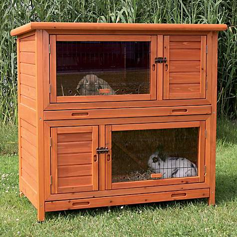 Trixie Natura Insulated Two Story Rabbit Hutch
