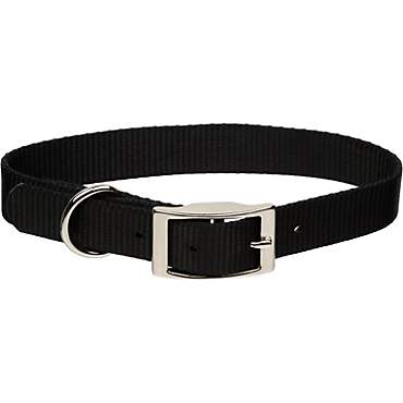 Coastal Pet Metal Buckle Nylon Personalized Dog Collar in Black, 3/4