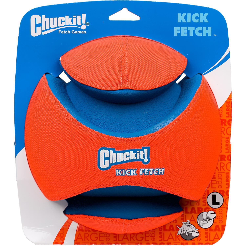 Chuckit! Kick Fetch Ball Dog Toy, Large, Orange