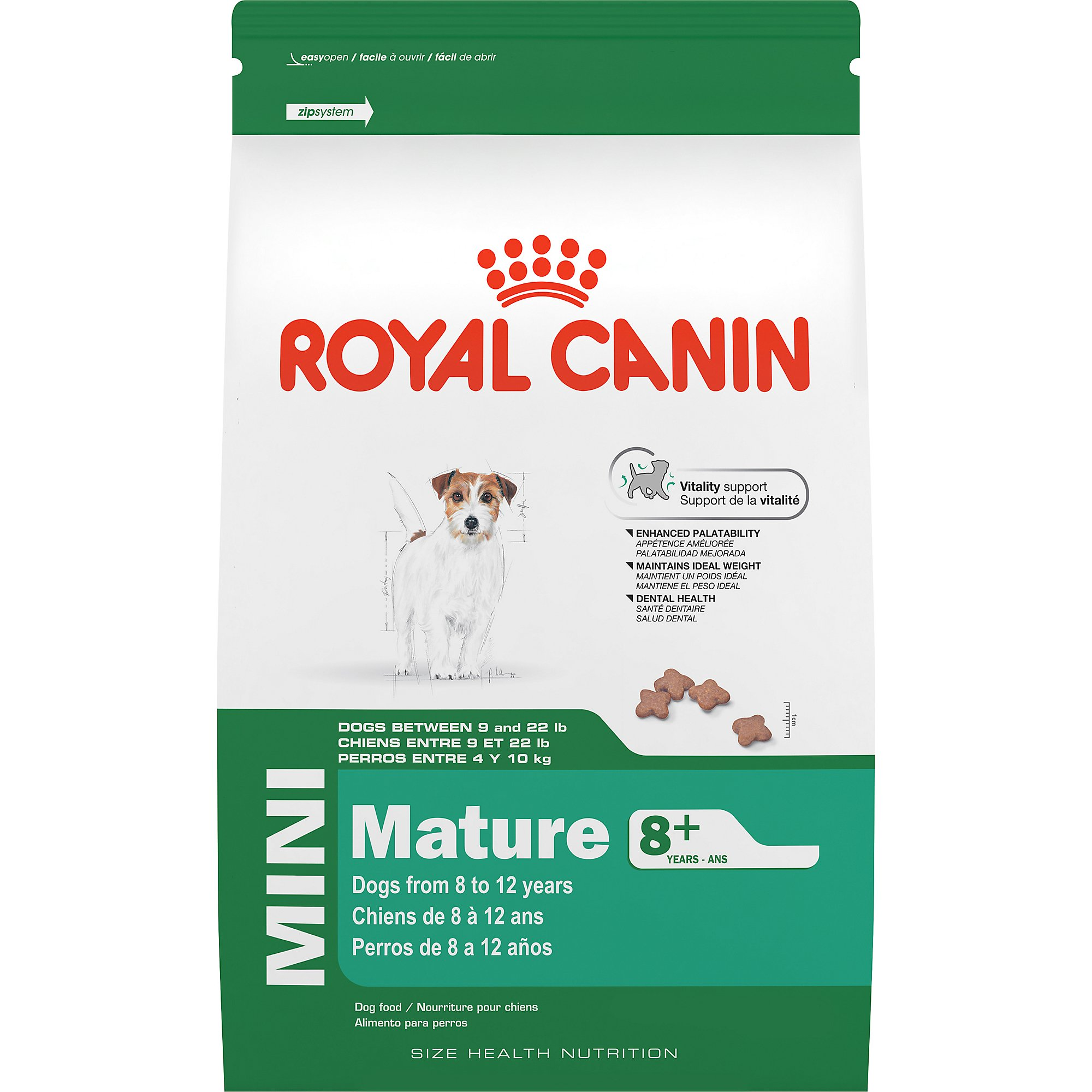 royal canin size health nutrition mini mature 8 dry dog food petco. Black Bedroom Furniture Sets. Home Design Ideas