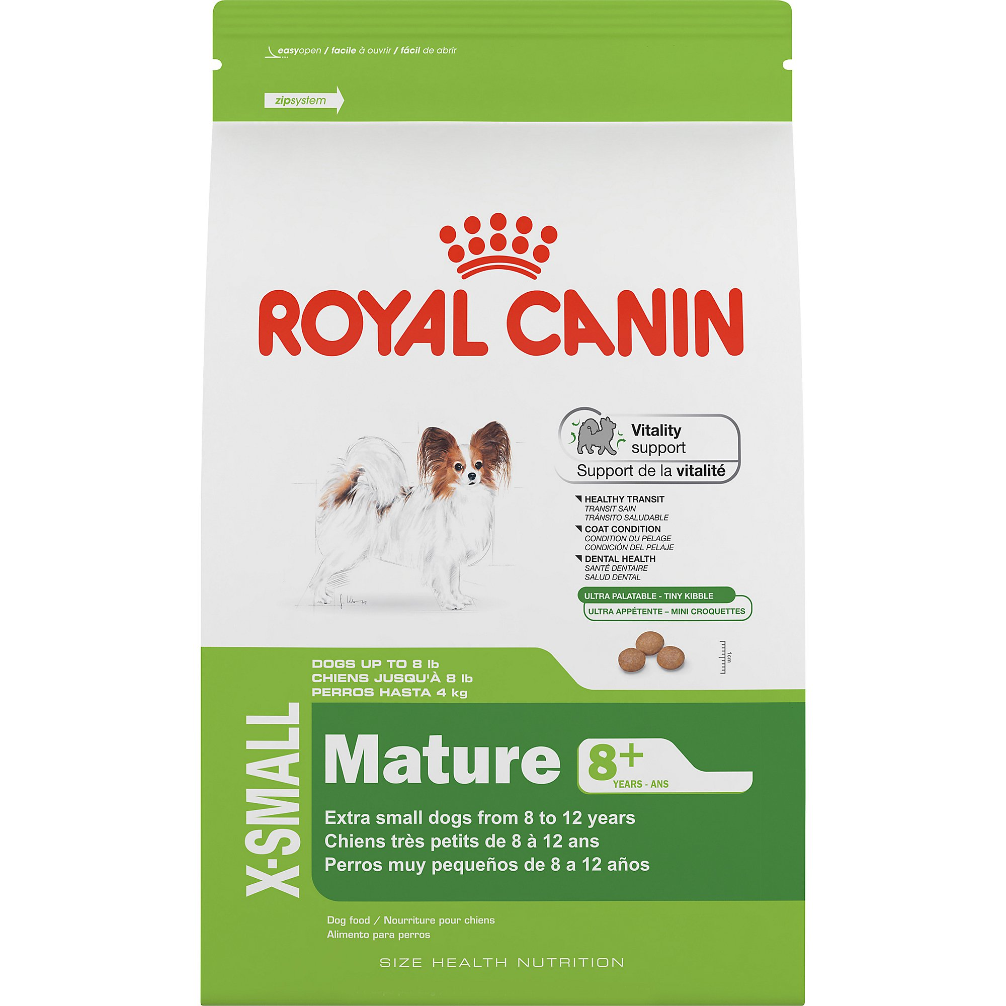 royal canin size health nutrition x-small mature 8+ dry dog food | petco