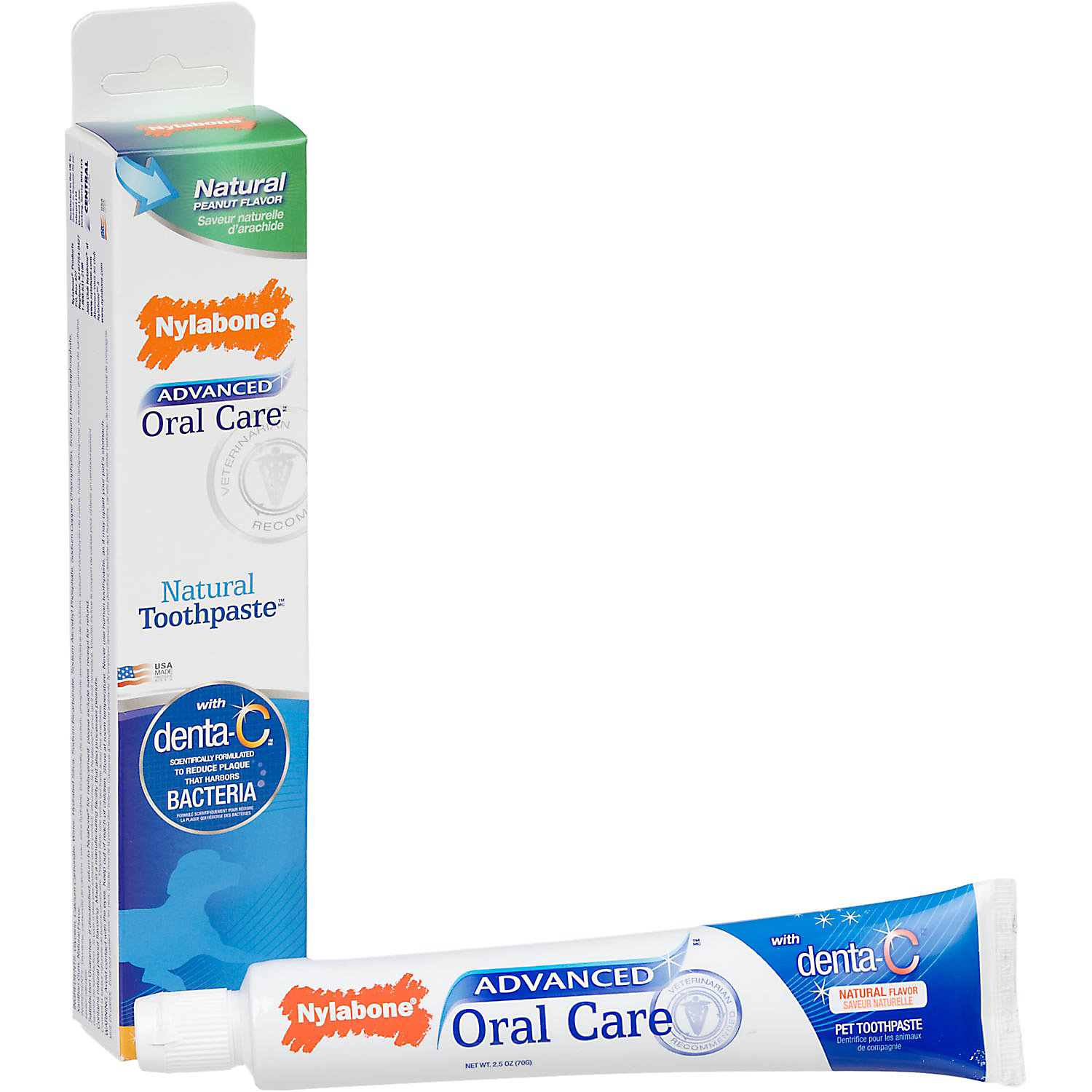 Nylabone Advanced Oral Care Natural Peanut Flavor Dog Toothpaste 2.5 Oz.