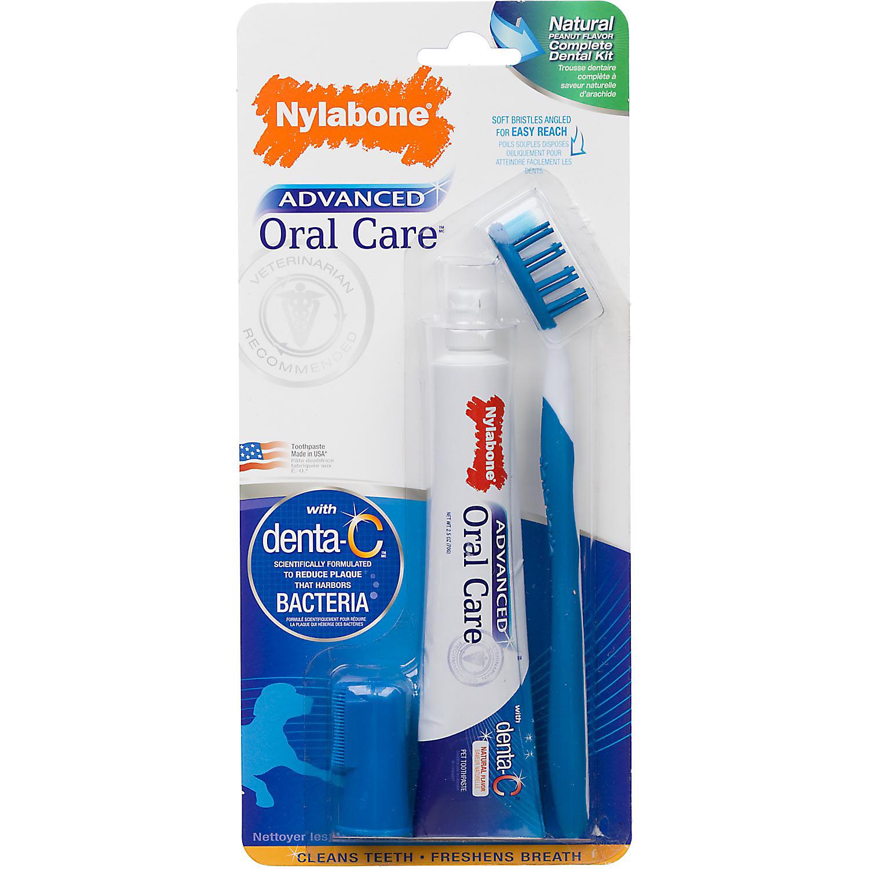 Nylabone Advanced Oral Care Complete Natural Dog Dental Kit