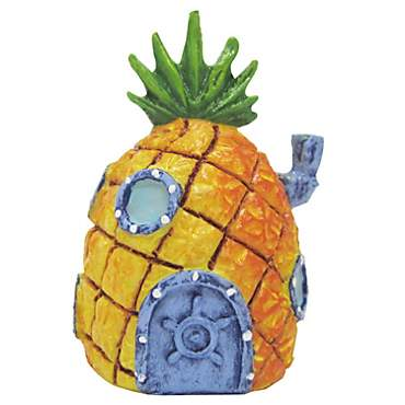 Penn Plax SpongeBob Squarepants Mini Pineapple House Aquatic Ornament