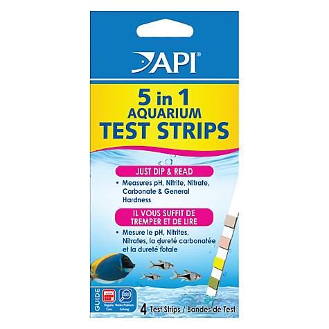 API 5 in 1 Aquarium Water Test Strips, 4 count