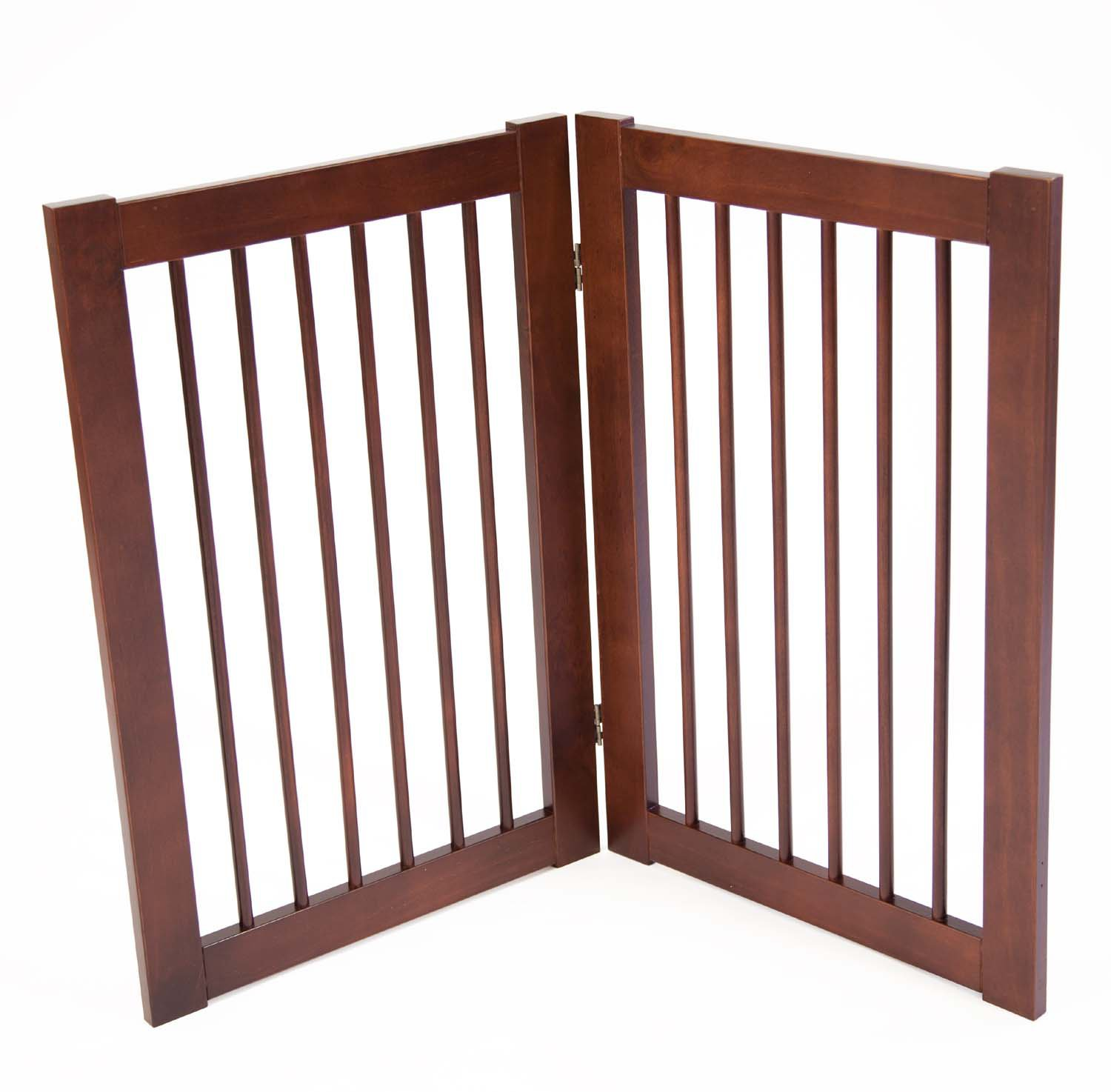 Dog pet gates tall wooden extra wide indoor dog gates petco primetime petz wood gate extension kit eventelaan Image collections