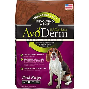 AvoDerm Natural Revolving Menu Duck Recipe Dry Dog Food
