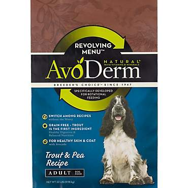 AvoDerm Natural Revolving Trout & Pea Recipe Dry Dog Food