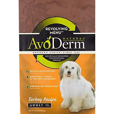 AvoDerm Natural Revolving Menu Turkey Recipe Dry Dog Food