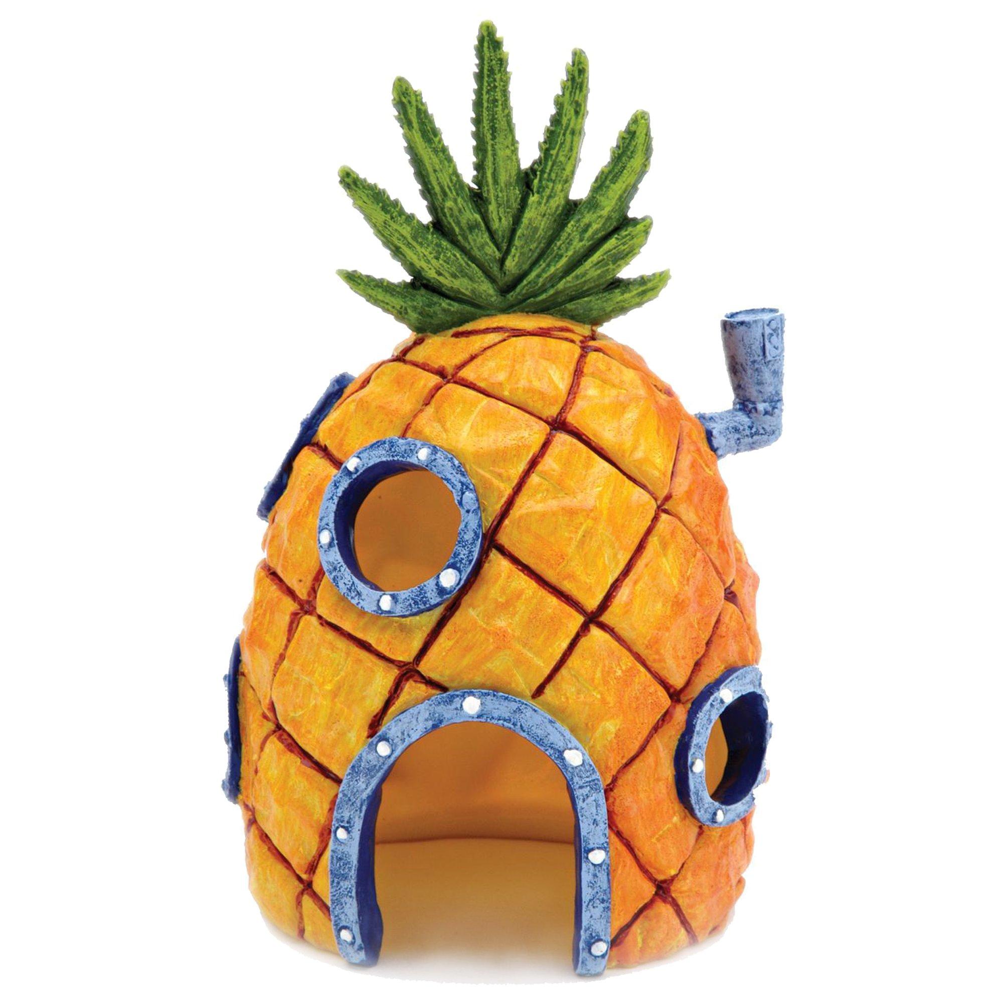 Penn plax spongebob squarepants pineapple house with swim for Petco fish tank decor