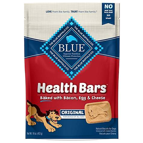 Blue Buffalo Blue Health Bars With Bacon, Egg & Cheese Dog Treats