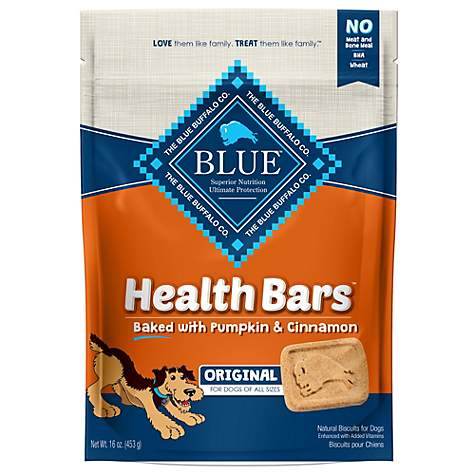 Blue Buffalo Blue Health Bars With Pumpkin And Cinnamon Dog Treats