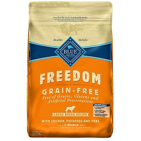 Blue Freedom Large Breed Adult Dog Food Grain Free Chicken