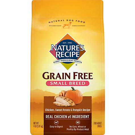 Nature's Recipe Grain-Free Chicken Sweet Potato & Pumpkin Small Breed Dog Food