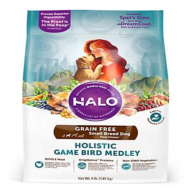Halo Grain Free Small Breed Holistic Game Bird Medley Dry Dog Food
