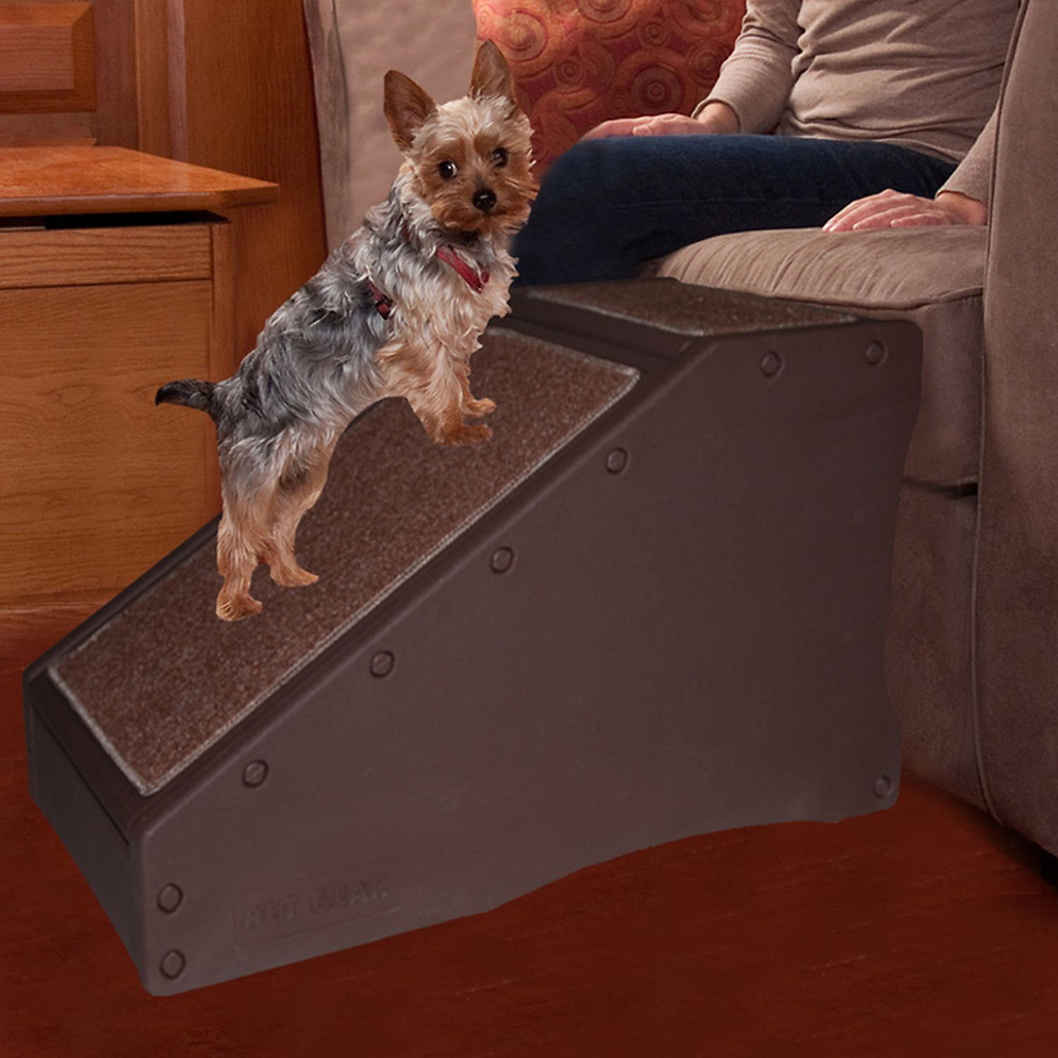 Pet Gear Chocolate Stramp Pet Ramp