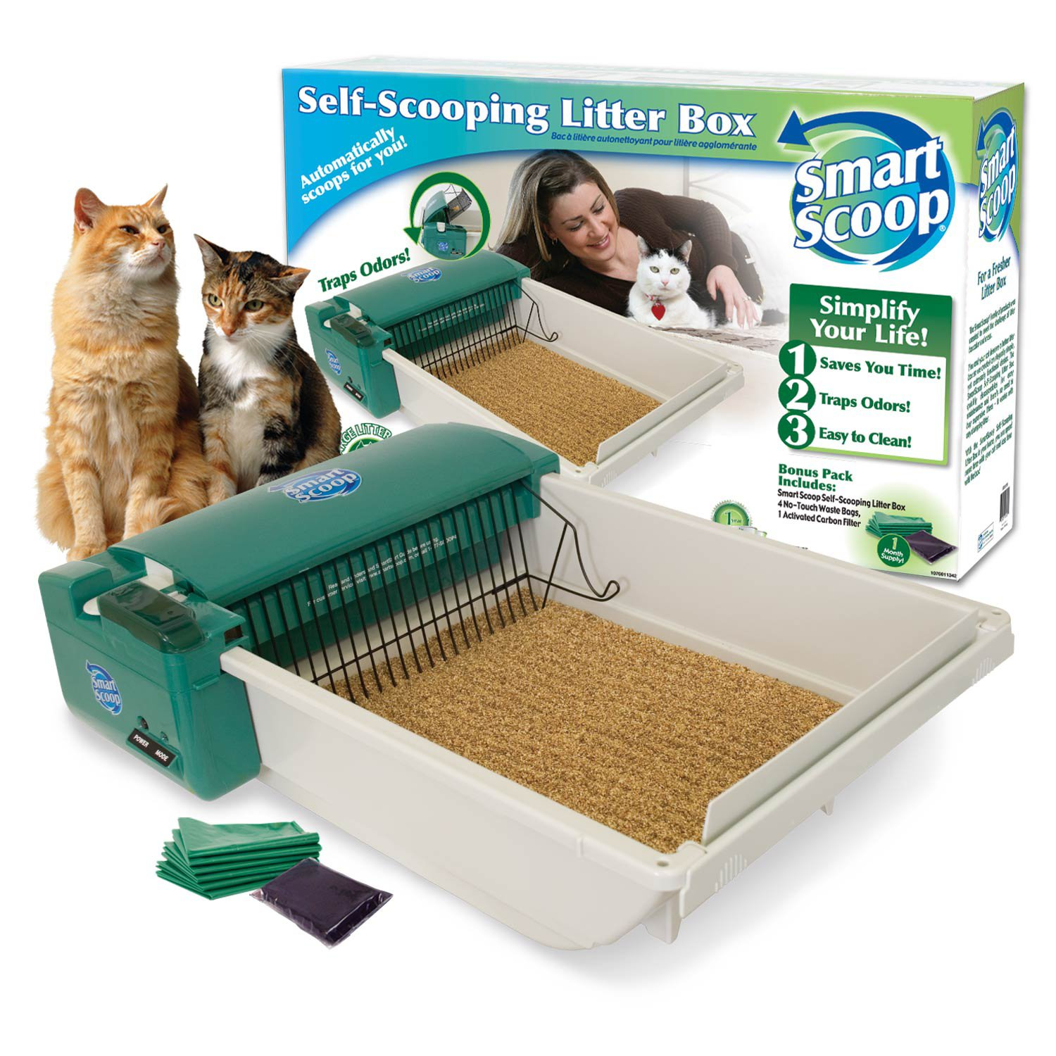 Smartscoop Basic Green Self Scooping Cat Litter Box Petco