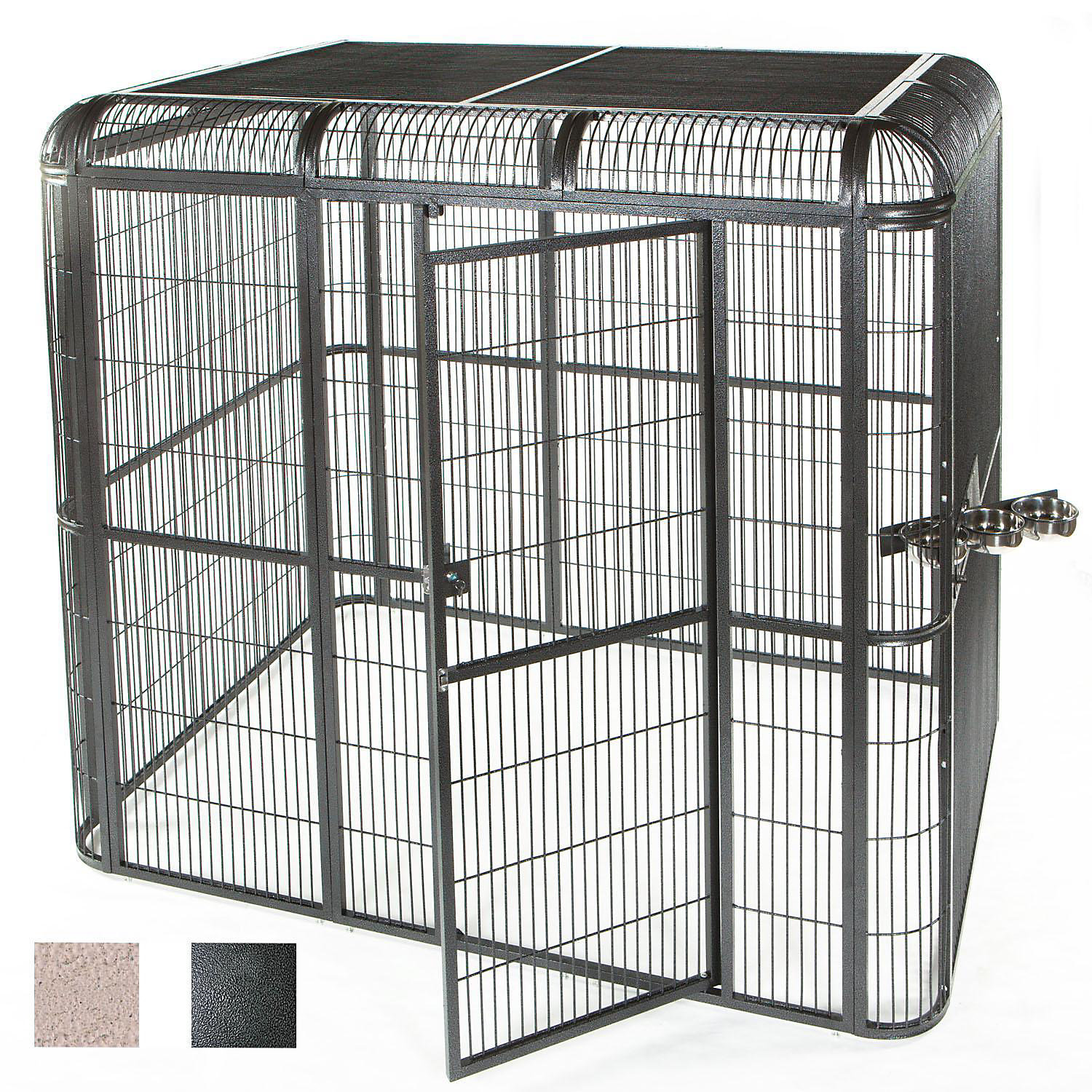 Ae Cage Company 85 X 61 Walk In Aviary In Black Medium