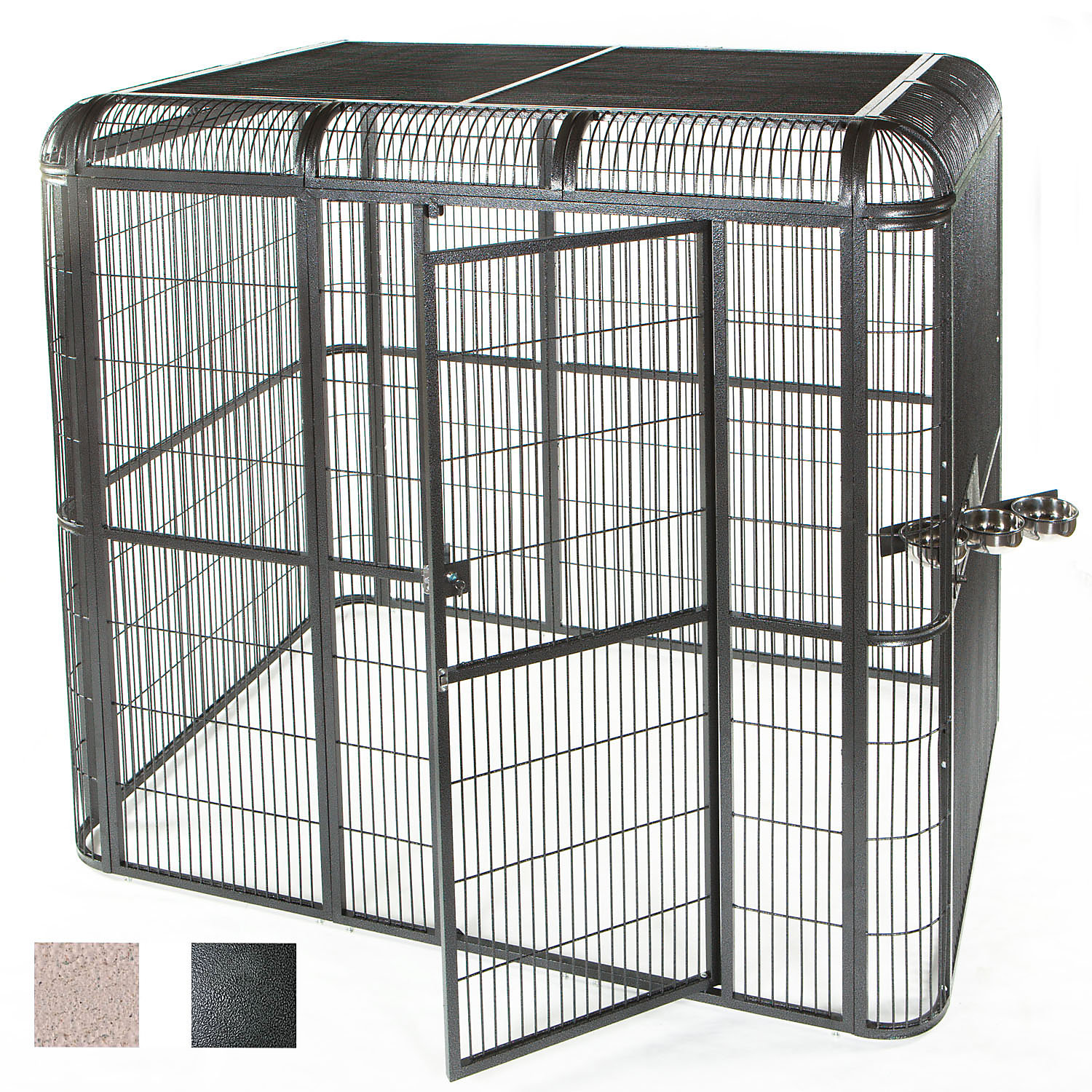Ae Cage Company 110 X 62 Walk In Aviary In Black