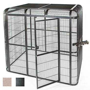 A&E Cage Company Walk In Aviary in Black