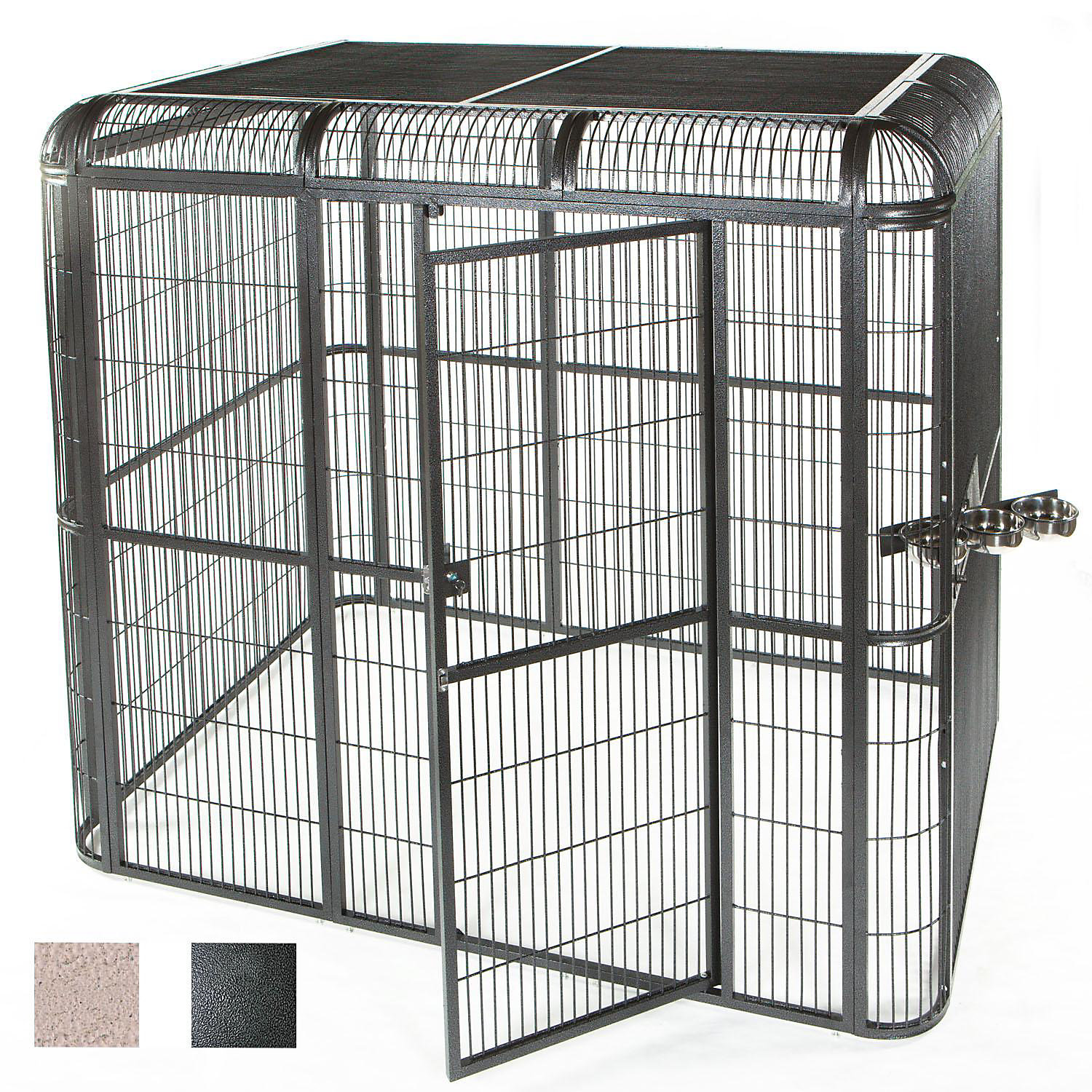 Ae Cage Company 86 X 62 Walk In Aviary In Black Large