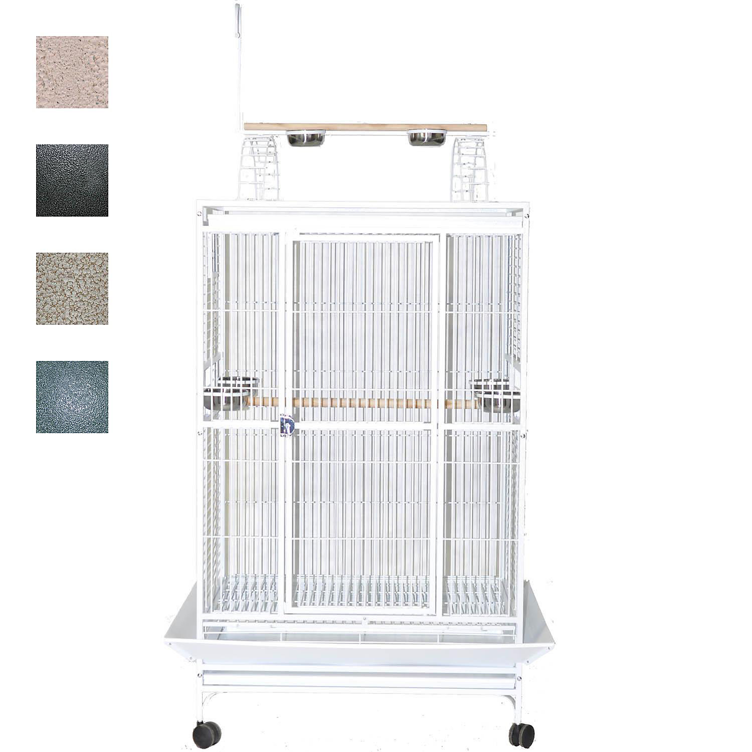 "Image of ""A&E Cage Company 36"""" X 28"""" Play Top Bird Cage in Black"""