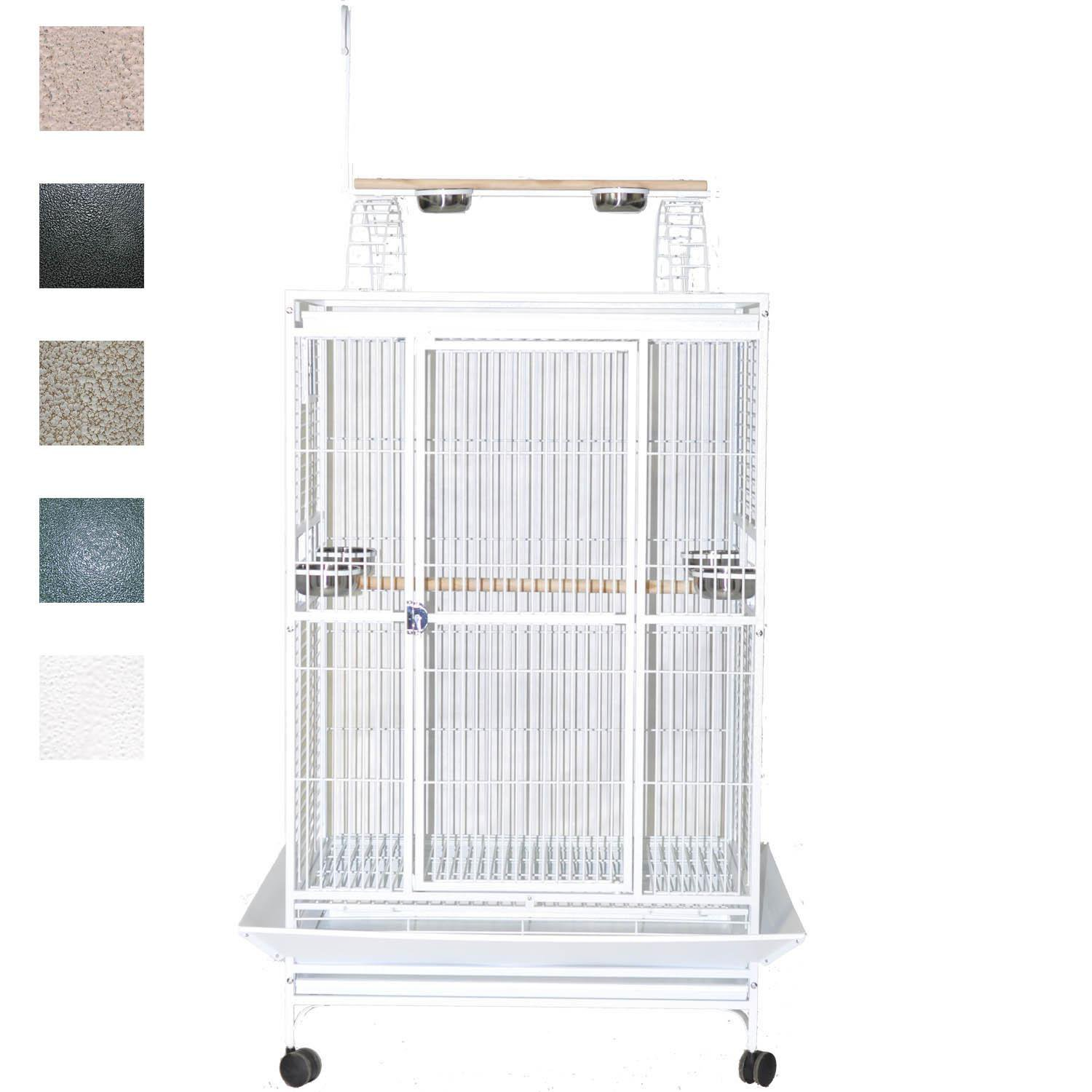 "A&e Cage Company 40"" X 30"" Play Top Bird Cage In Stainless Steel, Silver"