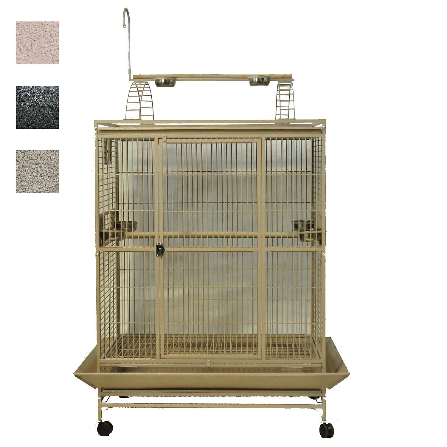 "Image of ""A&E Cage Company 48"""" X 36"""" Play Top Bird Cage in Black"""
