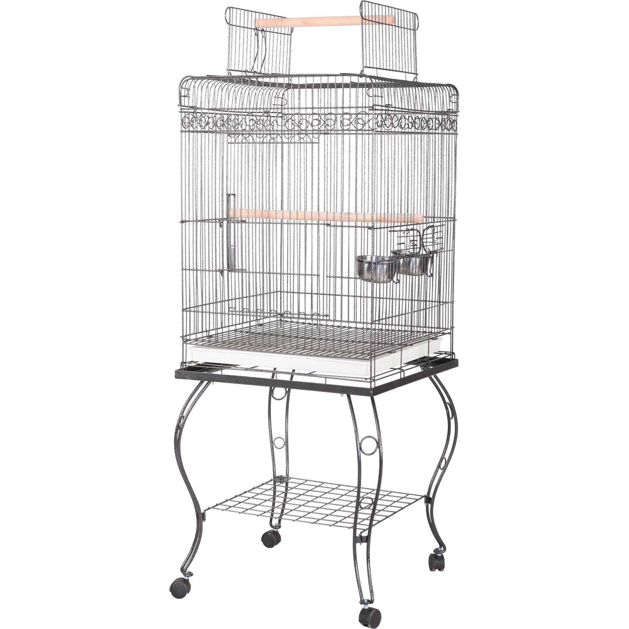 """A&E Cage Company 20"""" X 20"""" Play Top Bird Cage in Platinum"""