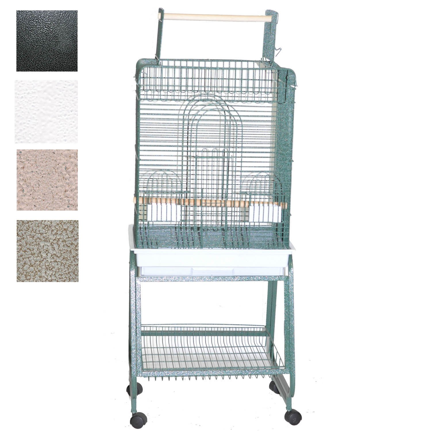 "Image of ""A&E Cage Company Play Top Bird Cage with Removable Stand, 22"""" L X 18"""" W X 62"""" H, White, Small"""