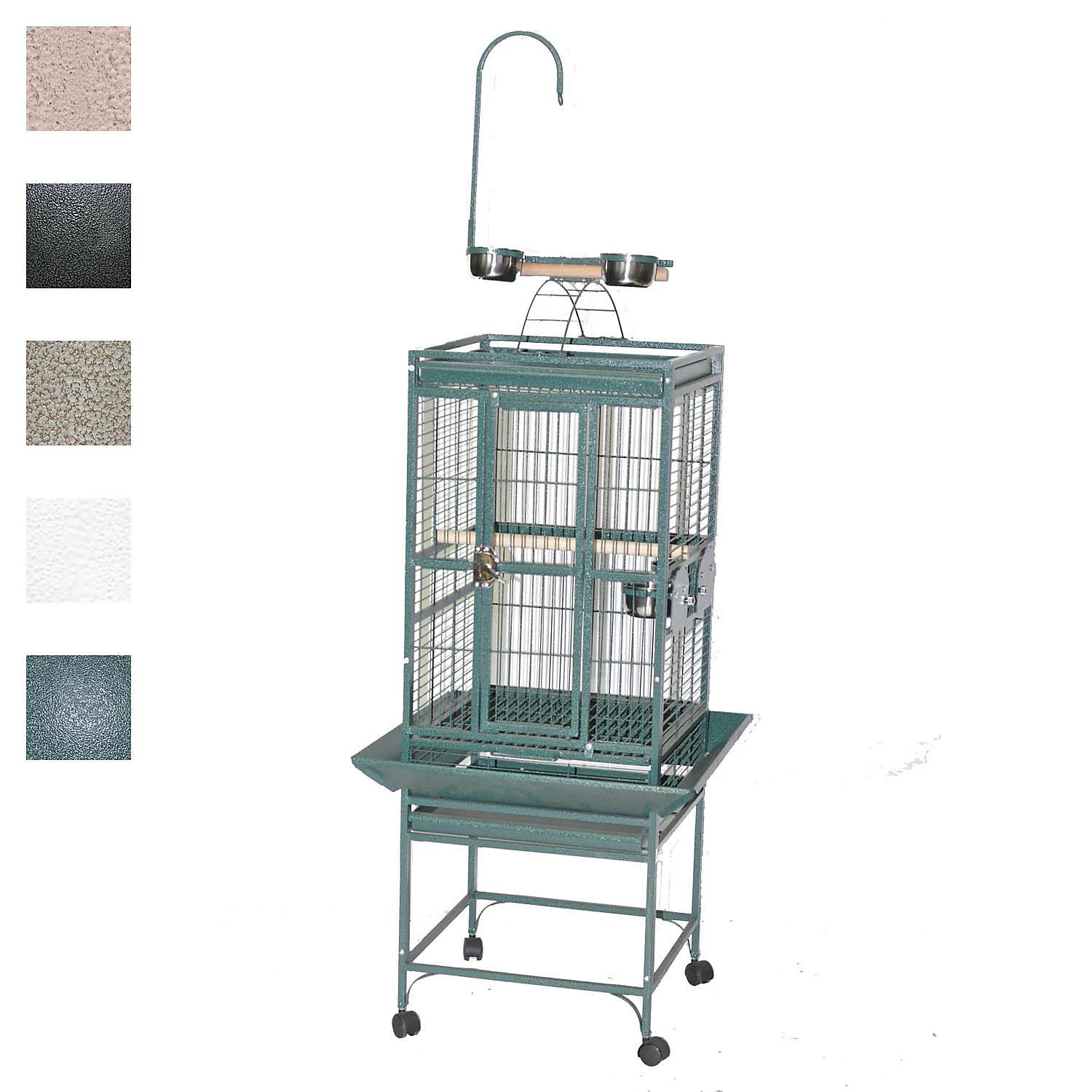 "Image of ""A&E Cage Company 18"""" X 18"""" Play Top Bird Cage in Black"""