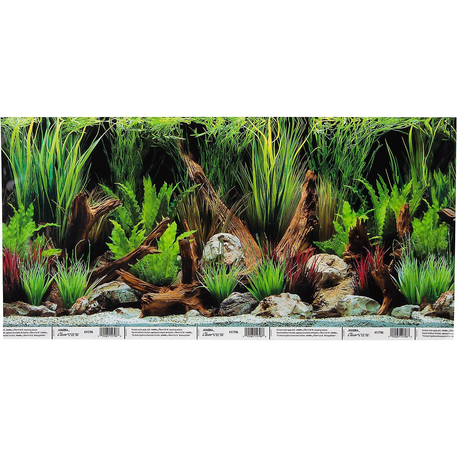Hagen Marina Reversible Aquarium Background In Planted