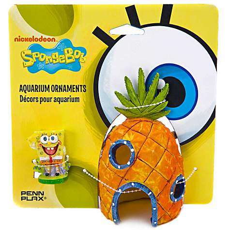 Penn Plax SpongeBob & Pineapple House Aquarium Ornament