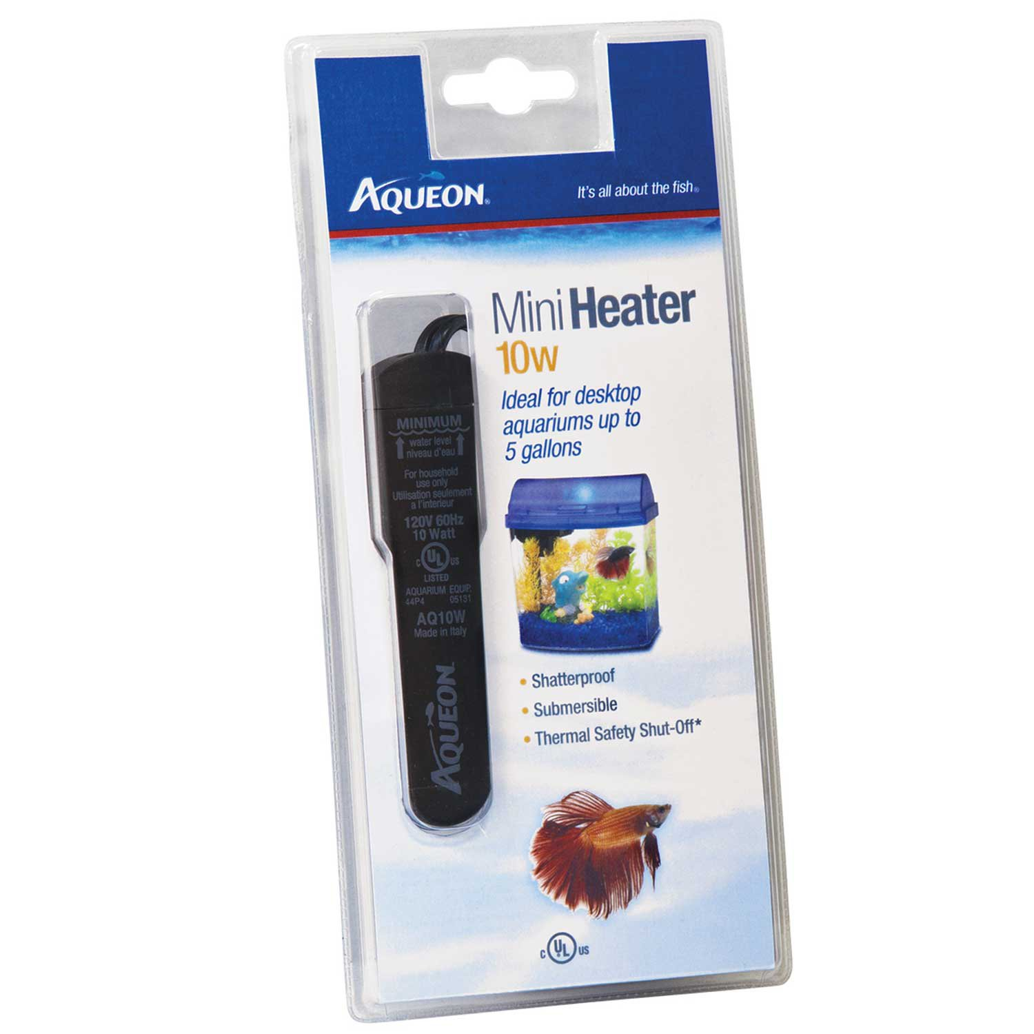 Aqueon submersible aquarium heater 10w petco for 10 gallon fish tank heater