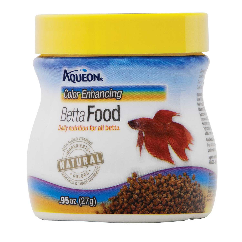 Aqueon Betta Color Enhancing Pellets Betta Food .95 Oz.