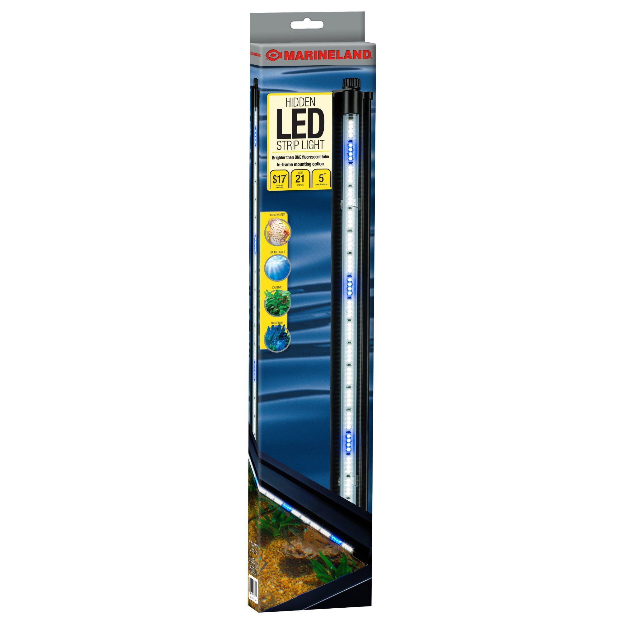 "Using Shop Lights For Aquarium: Marineland Hidden LED Lighting System 21"""
