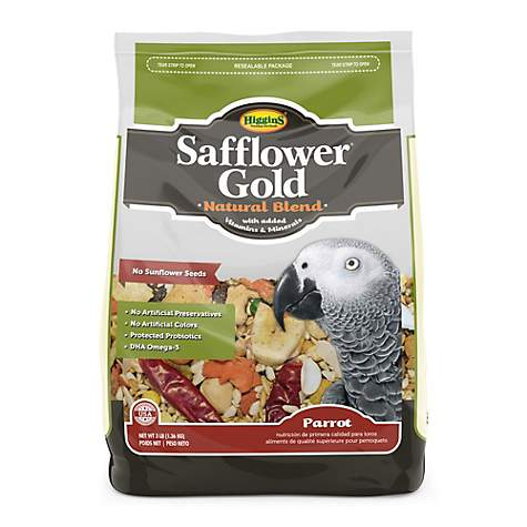 Higgins Safflower Gold Natural Food Mix for Parrots