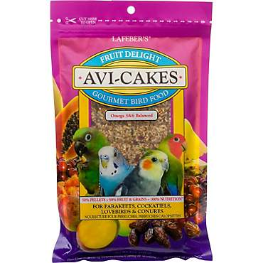Lafeber's Fruit Delight Avi-Cakes for Parakeets, Cockatiels, Lovebirds & Conures