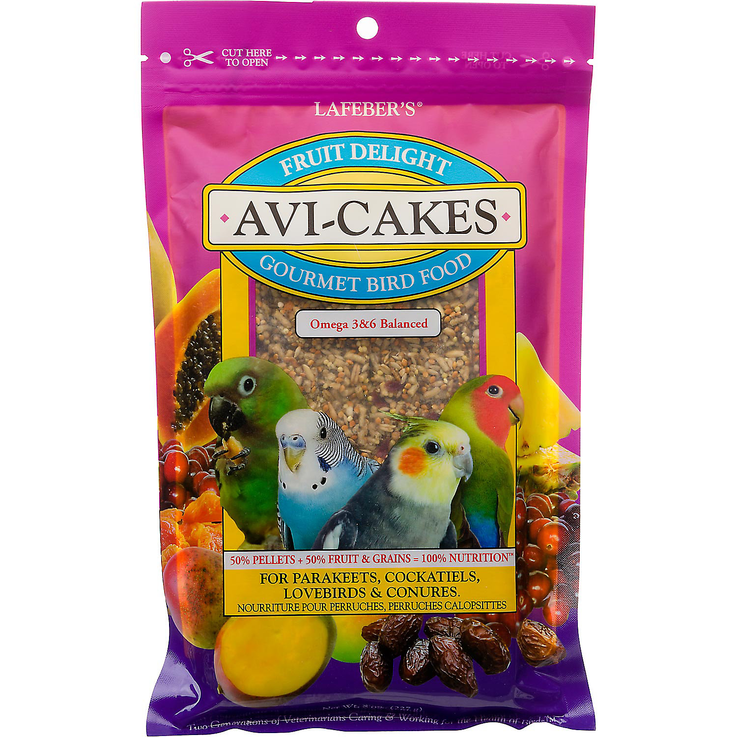 Lafebers Fruit Delight Avi Cakes For Parakeets Cockatiels Lovebirds Conures